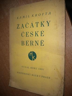 Krofta Kamil - Začátky čeké berně - 1931