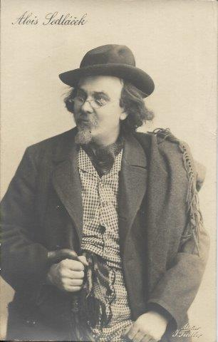 Alois Sedláček - herec , DA , fotopohlednice , atelier Fiedler