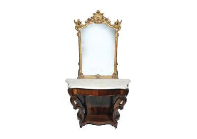 Konzolový stůl se zrcadlem, po kompletní renovaci