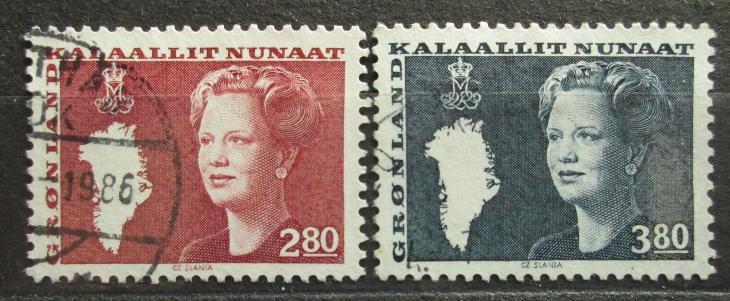 Grónsko 1985 Královna Markéta II. Mi# 155-56 0100 - Filatelie