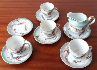 Čínský porcelán - čajový servis (nekompletní souprava)