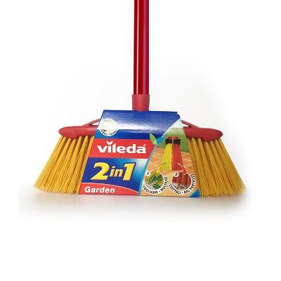 Vileda kartáč venkovní smeták 2v1 Garden + tyč