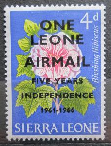 Sierra Leone 1966 Květiny přetisk Mi# 363 0151