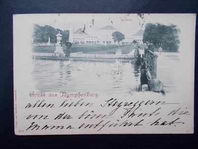 Německo Říše Mnichov München Nymphenburg šlechta hrabě dlouhá adresa