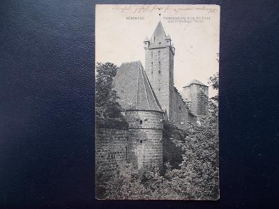 Německo Říše Bavorsko Norimberk Nürnberg Císařská tvrz věž hrad 1918