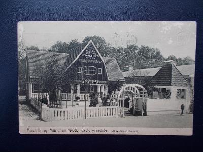 Německo Říše Mnichov München výstava 1908 Čajovna Cejlon Teestube