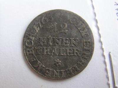 mince Německo, Sasko 1/12 tolaru 1763 E.D.C