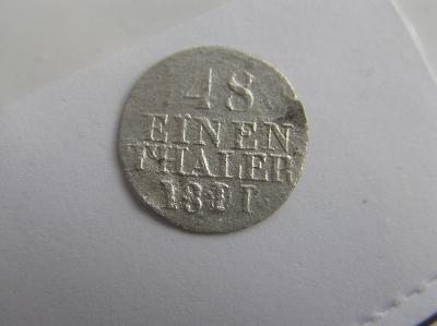 mince Německo, Sasko 1/48 tolaru 1811 H.