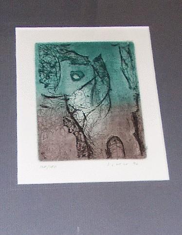JOSEF ISTLER - Vegetace II. - lept signovaný umělcem 1997