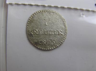mince Hessen-Darmstadt, 1 Kreuzer 1806