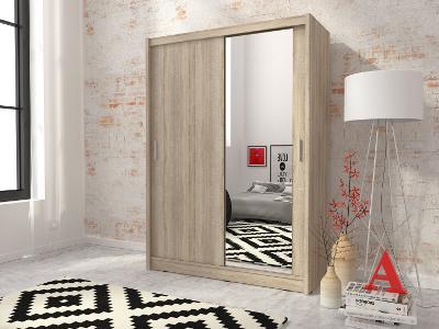 Stylová praktická hezká skříň MAJA 130 / zrcadlo 2 barvy!