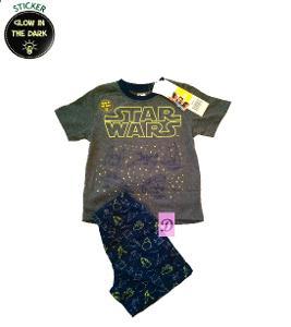 SUN CITY Pyžamo STAR WARS svítící krátké šedé > 104