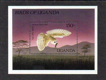 Uganda-Ptáci 1987**  Michel Bl.73 / 7,50 €