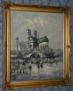 Zámecký obraz-Imprese-pod Hradem-olej na plátně