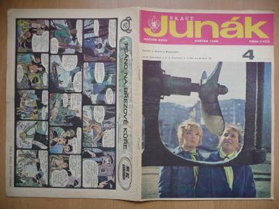 Časopis - Skaut-Junák - ročník XXXII. - číslo 4. - Květen 1969