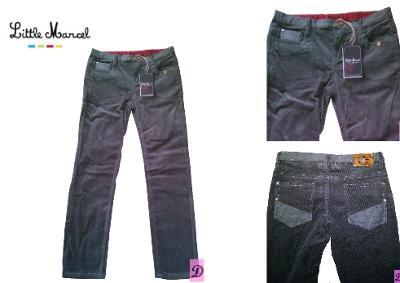 Kalhoty manšestrové chlapecké šedé LITTLE MARCEL > 146/152