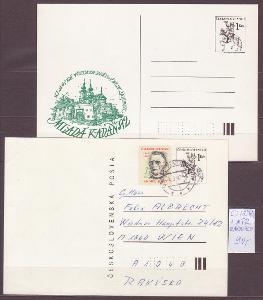 Československo CDV 236 A prošlá + soukromý tisk Kadaň