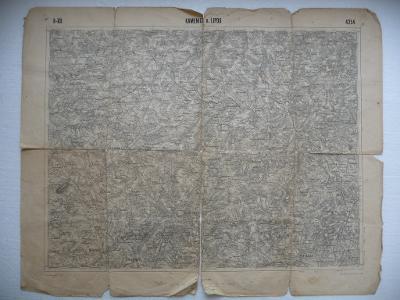Stará mapa - Kamenice n. Lipou - z roku 1925