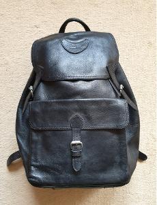 Celokožený batoh - černý. Pravá kůže