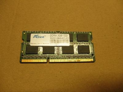 RAM ASINT 2Gb SO-DIMM DDR3 1333Mhz, záruka