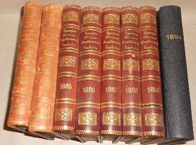 ČASOPIS MUSEA - 8 ročníků, polokůže, 19. století