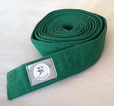 Zelený pásek na kimono zn. Budo sport - 300 cm