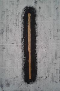 Znamení, 70 x 50 cm, akryl na kartonu