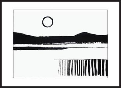 Ztichlá krajina, 50 x 70 cm, akryl na kartonu
