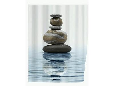 Sprchový závěs, textilní, Meditation, 180x200 cm