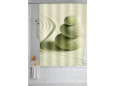 Sprchový závěs, textilní, Sand and Stone, 180x200