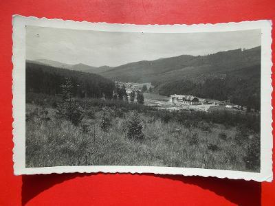 Beskydy Frýdek Místek Hotel Bílá razítko nájemce Drápalík Na Bílé 1937