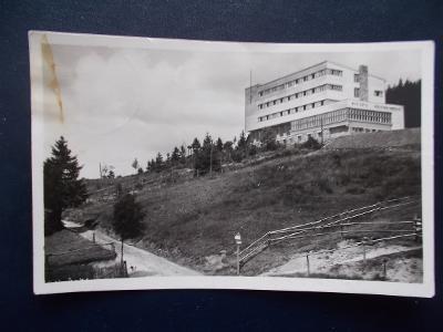 Beskydy Frýdek Místek Hotel KČT Bílý Kříž na hotelu Německý název !