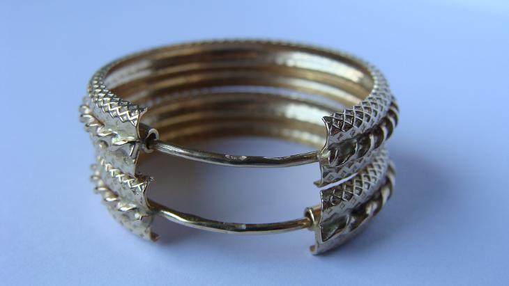 ZLATÉ NÁUŠNICE KRUHY (S534) - Šperky