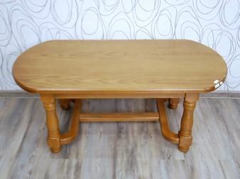 Konferenční stolek dřevolaminát/ dřevo masiv (17357B)
