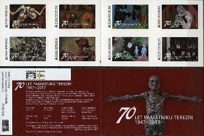 Vlastní známky - 70 let památníku Terezín ZS 62 **