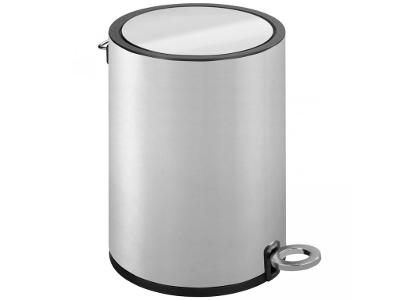 Koupelnový koš na odpadky, nerezová ocel, 3l