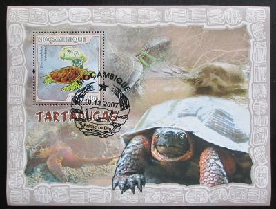 Mosambik 2007 Mořské želvy Mi# Block 220 Kat 10€ 1345