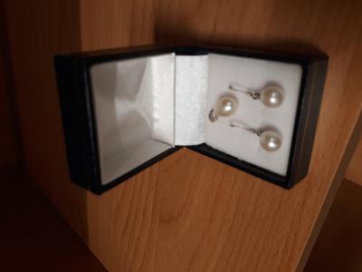 Náušnice s perlickami z Mallorky plus přívěšek