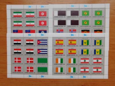 1988 - Archy Mi. 553 / 568 / ** -Flaggen der UNO-Mitgliedstaaten (IX