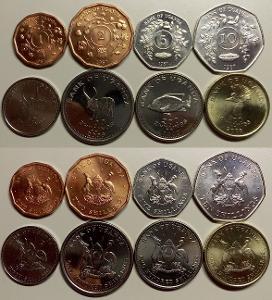 UGANDA KOMPLETNI SADA MINCI 1+2+5+10+50+100+200+500 Shillings 8 ks UNC