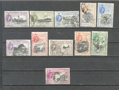 SIERRA LEONE  1956  SG 210 - 221  SVĚŽÍ, RAZÍTKOVANÉ