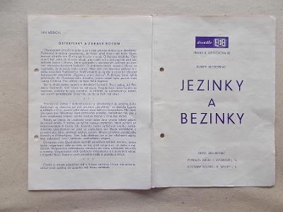 Starý divadelní program Praha ABC Vodičkova reklama Jezinky a Bezinky