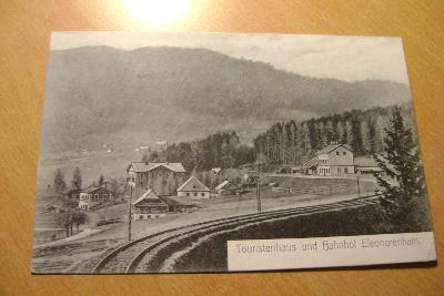 Šumava-Lenora-Železniční nádraží a železnice-1906 ,okres Klatovy