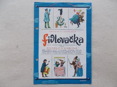 Starý divadlo program hudební Karlín Tyl Fidlovačka reklama Nový Oldři