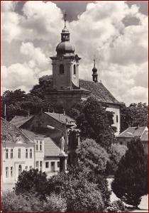 Bzenec * kostel sv. Jana Křtitele, socha, část města * Hodonín * V293