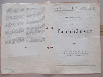 Starý program Národní divadlo vstupenky recenze Wagner Tannhäuser here