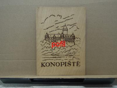 Dřevěná pohlednice dýha - Konopiště /291640/
