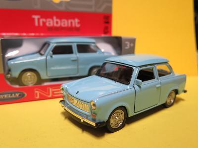 Trabant 601 světle modrý - 1/34 Welly (D5-T2)
