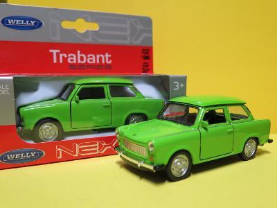 Trabant 601 zelený - 1/34 Welly (D5-T3)