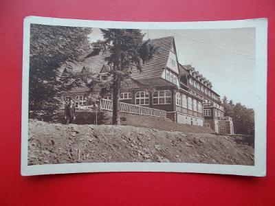 Rožnov Radhošť Beskydy Pustevny Tanečnica hotel Poštovna Lochman 1928